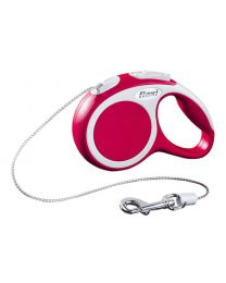 Flexi Vario Cord Dog Lead, Red 8kg - Extra Small, 3m (10ft)