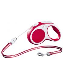 Flexi Vario Cord Dog Lead, Red 12kg - Small, 5m (16ft)