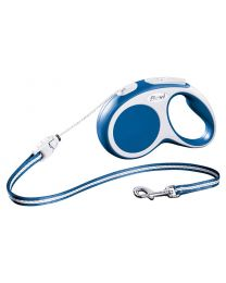 Flexi Vario Cord Dog Lead, Blue 12kg - Small, 5m (16ft)