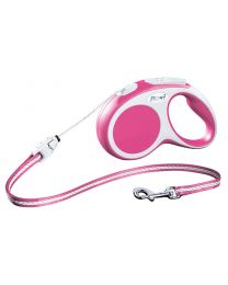 Flexi Vario Cord Dog Lead, Pink 12kg - Small, 5m (16ft)