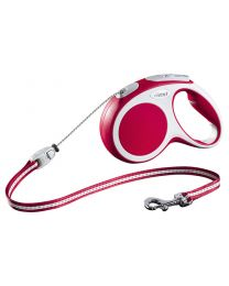Flexi Vario Cord Dog Lead, Red 20kg - Medium, 5m (16ft)