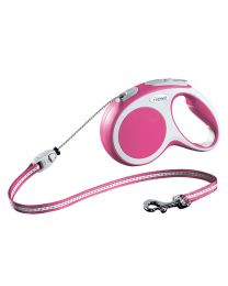 Flexi Vario Cord Dog Lead, Pink 20kg - Medium, 5m (16ft)
