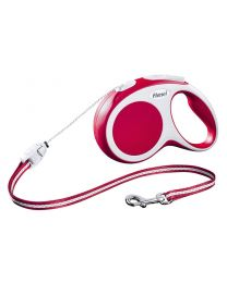 Flexi Vario Cord Dog Lead, Red 12kg - Small, 8m (26ft)