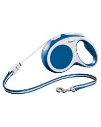 Flexi Vario Cord Dog Lead, Blue 12kg - Small, 8m (26ft)