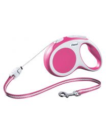 Flexi Vario Cord Dog Lead, Pink 12kg - Small, 8m (26ft)