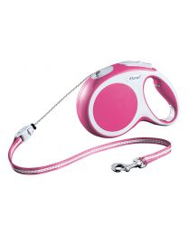 Flexi Vario Cord Dog Lead, Pink 20kg - Medium, 8m (26ft)