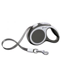 Flexi Vario Tape Dog Lead, Anthracite 12kg - Extra Small, 3m (10ft)