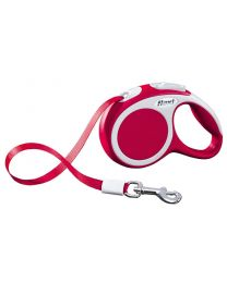 Flexi Vario Tape Dog Lead, Red 12kg - Extra Small, 3m (10ft)