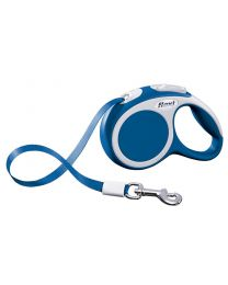 Flexi Vario Tape Dog Lead, Blue 12kg - Extra Small, 3m (10ft)