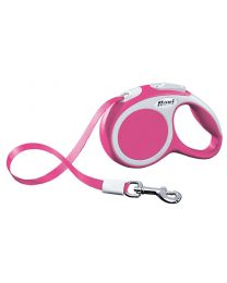 Flexi Vario Tape Dog Lead, Pink 12kg - Extra Small, 3m (10ft)