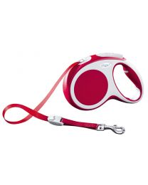 Flexi Vario Tape Dog Lead, Red 25kg - Medium, 5m (16ft)