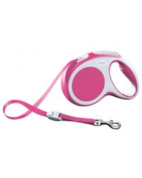 Flexi Vario Tape Dog Lead, Pink 25kg - Medium, 5m (16ft)