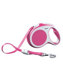 Flexi Vario Tape Dog Lead, Pink 60kg - Large, 5m (16ft)