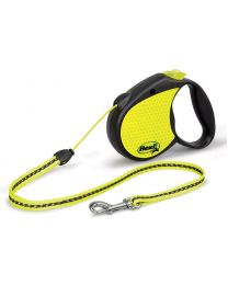 Flexi Neon Reflect Cord Dog Lead, 12kg - Small, 5m (16ft)