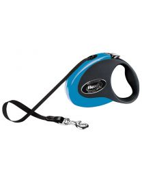 Flexi Collection Tape Dog Lead, Blue 12kg - Small, 3m (10ft)