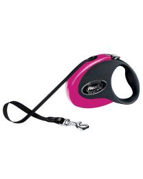 Flexi Collection Tape Dog Lead, Pink 25kg - Medium, 5m (16ft)