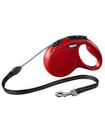 Flexi New Classic Cord Dog Lead, Red 20kg - Medium, 5m (16ft)