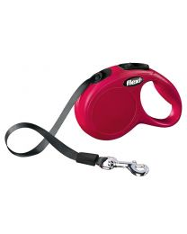 Flexi New Classic Tape Dog Lead, Red 12kg - Extra Small, 3m (10ft)