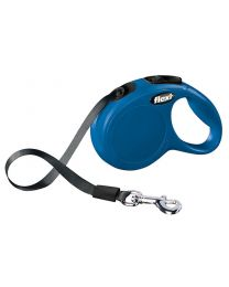 Flexi New Classic Tape Dog Lead, Blue 12kg - Extra Small, 3m (10ft)