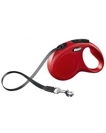 Flexi New Classic Tape Dog Lead, Red 15kg - Small, 5m (16ft)