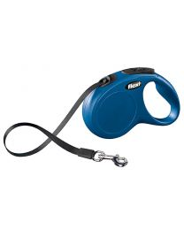 Flexi New Classic Tape Dog Lead, Blue 25kg - Medium, 5m (16ft)