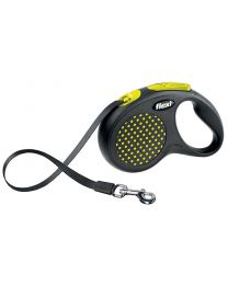 Flexi Design Tape Dog Lead, Yellow Dot 50kg - Large, 5m (16ft)